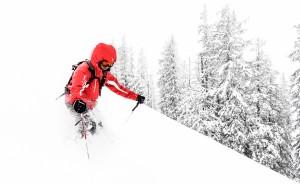 dyb, sne, ski,